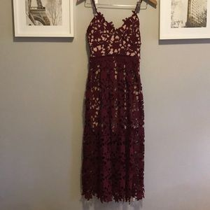 Aqua embroidered dress
